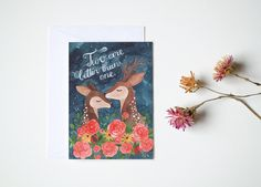 Two are better than one card by oanabefort on Etsy