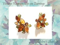 Twitter Tweets, Twitter Sign Up, 1950s Jewelry, Sterling Jewelry, Aurora Borealis, Clip On Earrings, Sparkle, Etsy, Vintage