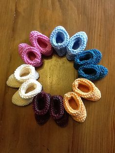 easy fast baby booties