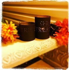Punched can candle luminaries
