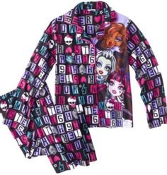 Monster High Girls Pajamas Set New with Tags Size 6 6X Sleepwear New with Tags | eBay