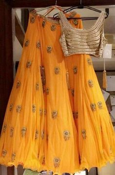 Gold and yellow Lehenga