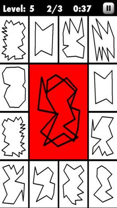 Looks like a great game!  Look at the overlapped shapes in the middle and choose which ones are included along the edges.