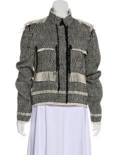 Lanvin 2016 Metallic Jacket w/ Tags - Clothing - Metallic Jacket, Fringe Trim, Lanvin, Collars, Men Sweater, Winter Jackets, Legs, Silk, Skirts