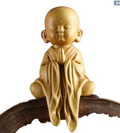 - CM Stunning Boxwood Carving: Little Monk Za-zen 4 Baby Buddha, Little Buddha, Buddha Zen, Buddha Meditation, Small Buddha Statue, Buddha Statues, Om Art, Wood Sculpture, Carving