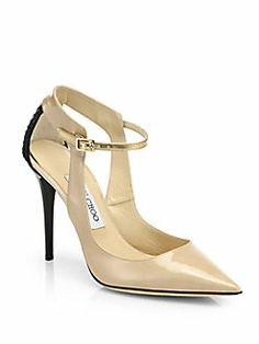 Jimmy Choo - Mystic Mixed Media Cutout Pumps Shop at Saks Fifth Avenue at 150 Worth Ave in Palm Beach FL