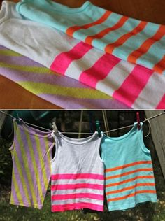 DIY Neon stripes!