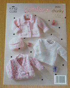 K3044 Knitting Pattern Babies Cardigan by KnittingPatterns4U, $5.00