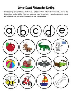 Letter Sound Sorting Pictures