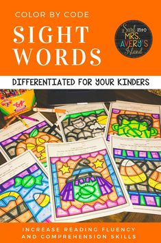 Looking for some fun ways to combine some Halloween activities with sight words into your reading lesson plans?  Your October morning work and/or literacy centers will be bomb with these engaging, no-prep, differentiated color by code worksheets!  Click here to discover these no prep printables, and watch your students beg you for more! #sightwords #literacycenters
