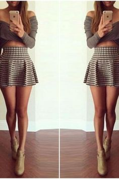 Cute Two Piece A Line Mini Dress