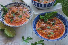 Turmeric & Saffron: Ash-e Goje Farangi with Koofteh Ghelgheli - Hearty Iranian Tomato Soup with Tiny Meatballs