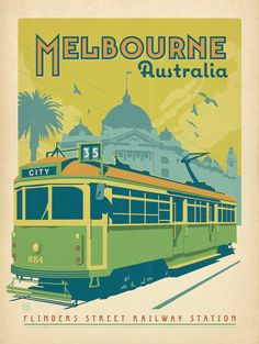 Melbourne Trolley poster
