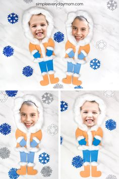 This photo eskimo DIY is a fun winter craft for kids to make at school or at home. Great for elementary and preschool children. basteln, Photo Eskimo Craft For Kids Winter Activities For Kids, Winter Crafts For Kids, Winter Kids, Crafts For Kids To Make, Kids Crafts, Preschool Winter, Craft Kids, Winter Crafts For Preschoolers, Clay Crafts