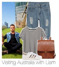 """Visiting Australia with Liam"" by bx-sxnnt ❤ liked on Polyvore featuring Payne, Proenza Schouler, adidas Originals, OneDirection, LiamPayne, 1dpreferences, onedirectionoutfits and onedirectionboys"