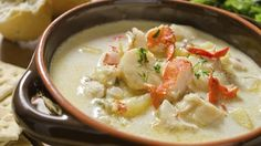 Arthurstown Fish Chowder   Modern Irish Food   With a large supply of fresh fish and shellfish readily available for us at the hotel, is it any wonder that we make this delicious seafood chowder so often? I normally double the recipe and use the second batch to make a fish pie. If you like smoked fish, you can make a delicious alternative to this recipe using smoked haddock as part of the fish mixture.