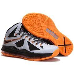 2013 Nike Lebron X 10 Mens Sneakers Shoes New Cheap Silver Black . All Lebron James Shoes, Lebron Shoes For Sale, Lebron James 10, Lebron James Basketball, Nike Basketball Shoes, Men's Basketball, Nike Zoom, Michael Jordan Shoes, Air Jordan Shoes