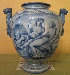 ANTIQUE CERAMIC VASE ORIGINAL ULISSE CANTAGALLI FLORENCE ITALY EARLY XXth CENT in Antiques, Decorative Arts, Ceramics & Porcelain, Vases | eBay