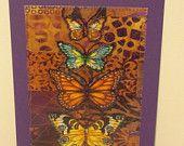 Butterfly Birthday Card Mom Friend Him Her Housewarm ThankYou Wedding Kitchen Bath Frame Gift 5x7 BUY 5 CARDS get 6th one FREE butterfly142