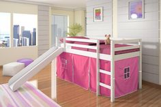 Ikea Kura Bed Hack Slide Bunk Bed With Slide With Modern And Simple Design The Advantages Of Ikea Hack Kura Bed With Slide And Secret Room Bunk Bed With Slide, Bunk Beds With Stairs, Kids Bunk Beds, Bed Slide, Toddler Bed With Slide, Slide Slide, Kura Bed, Low Loft Beds, Loft Spaces