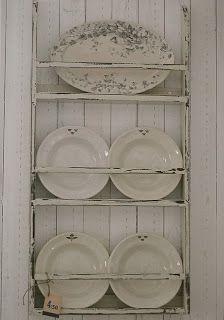 nice plate rack   COCINAS SHABBY CHIC [] KITCHENS SHABBY CHIC