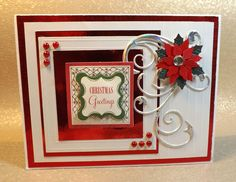 Handcrafted Christmas cards 2012 that I designed using Anna Griffith papers and embellishments.