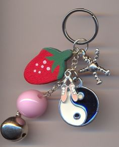Charm Keyring €2.00 Tiny Violin, Charmed, Personalized Items
