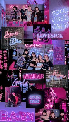 Cute Panda Wallpaper, Lisa Blackpink Wallpaper, Girl Wallpaper, Galaxy Wallpaper, Purple Wallpaper, Black Pink Songs, Black Pink Kpop, Foto Rose, Blackpink Poster