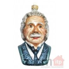 Albert Einstein may in fact be the greatest mind of any recent generation. Celebrate his scientific achievements with this wonderfully decorated glass ornament in his likeness. Instantly make your Christmas tree's IQ increase ten-fold with the addition of this ornament!We also carry a ornament of the famous Polish scientist