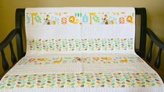 Modern Baby Quilt: Toddler Quilt Baby Boy by SewChicQuiltBoutique
