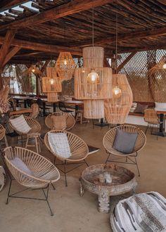 Naxian On The Beach, Naxos - Faraway Getaway Beach Restaurant Design, Restaurant Interior Design, Cafe Interior, Open Air Restaurant, Coffee Shop Design, Cafe Design, Küchen Design, House Design, Sunroom Furniture