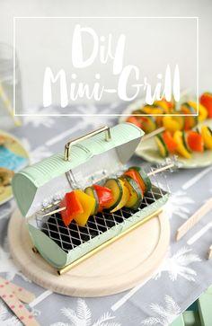 mein feenstaub – DIY, Deko, Design: {DIY} Mini-Grill aus Konserven selbstgemacht
