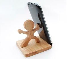 Wooden Phone Stand Desktop Phone Holder Phone Docking di YIMOWOOD