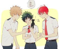 뻘하게 제일 좋아하는 장면 그려봤어요(미정발 네타) 둘이 협력하는 게 포인트 말만한 남자애들이 새끼냥이... Anime Love, Anime Guys, Doujinshi, Boku No Hero Academia, Yuri, Deku X Todoroki, Dc Heroes, Anime Ships, Character Illustration