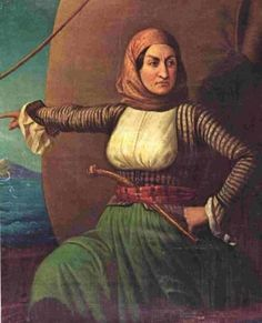 """""""I'm Greek and I grew up admiring Laskarina Bouboulina a lot. She was a rich, twice-widowed mother of nine who lived from 1771 to 1825. After both her husbands were killed by Algerian pirates, she inherited their fortunes and expanded upon them. Later, she became the only woman to join an underground organization which was preparing Greeks to revolt against the Ottoman Empire. """"She also joined the Greek War of Independence. She commanded a fleet of eight ships, including five of her own. She…"""
