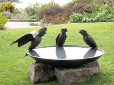 Bird Bath Ideas | Galah Birdbath Bowl | Willie Wildlife Sculptures