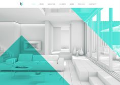 Geometric Design | Using geometric elements provides a chance for a site to have fun with color and shapes, without taking away the simplicity of the overall design. | cubicleninjas.com