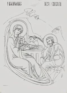 "Studio icona ""Sacra Famiglia nella Natività"" - Giuliano Melzi - Picasa Web Albums Byzantine Icons, Byzantine Art, Religious Icons, Religious Art, Sketch Design, Icon Design, Paint Icon, Christmas Icons, Name Art"