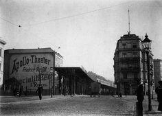 Berlin-Kreuzberg, Gitschiner Straße Ecke Sedanufer um 1900 damals Grenze zur Tempelhofer Vorstadt, nahe Hallesches Tor, Hochbahn im Bau