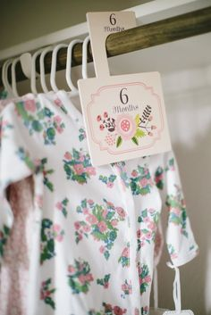 These 8 floral nursery closet dividers help bring our mission to life by giving you a simple (and stylish!) way to organize your nursery closet. Perfect for you or as a gift for any mom, simply hang i