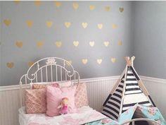 Metallic Wall Decals 100 gold metallic triangle wall stickers, decoration confetti
