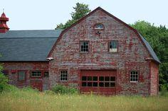 Vintage clapboard barn, Maine