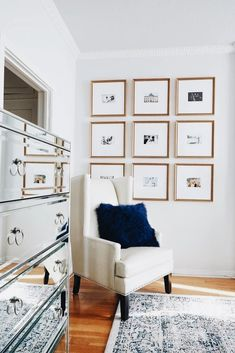 Maybe do this with the postcard prints above the couch!