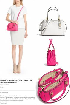 a047469fa $258 Madison Mini Christie Carryall - Saffiano Leather Luxury Bags, Ready  To Wear