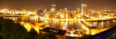 My first Panorama! It is Pittsburgh, PA from the lookout on Mt. Washington