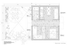 Arquitectural drawing. Regional Housing, Veracruz, Mexico. Project by Miquel Adrià with Iván Valero (Bandada Studio).