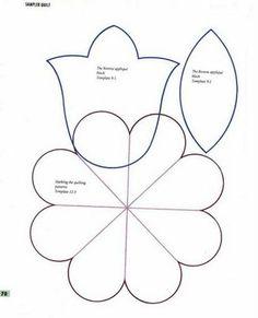 εïз MOÇA ARTEIRA by Daniele Pimenta - MOLDES FOFOS! εïз Quilting Templates, Quilting Tools, Applique Patterns, Fabric Patterns, Doodle Designs, Flower Crafts, Pin Cushions, Quilt Blocks, Embroidery Designs
