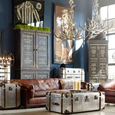 Timothy Oulton Globetrekker Lamp table-Aero - Furniture