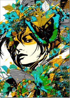 Marumiyan illustration dosei01 thumb Colorful mixed media illustrations by Marumiyan