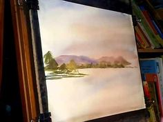 Watercolour Painting Lesson featuring Ullswater in the English Lake District, Cumbria
